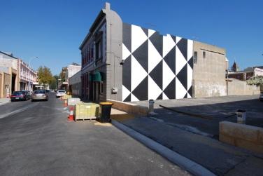 WALL PAINTING No.282, Untitled, 2010, 980 x 1150 cm., acrylic on wall, AC4CA, Fremantle, Australia / PEINTURE MURALE No.282, Sans titre, 2010, 980 x 1150 cm., acrylique sur mur, AC4CA, Fremantle, Australie