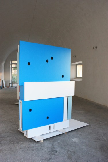 11.16. (Moments/Calandre) 2016, Lacquer on MDF & aluminum, 160 x 120 x 5 cm