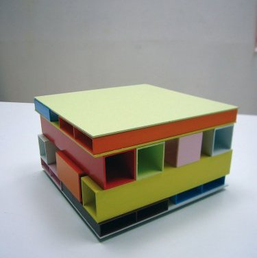 Little House of Colors. 2008, dimensions variable / Little House of Colors. 2008, laque sur aluminium, dimensions variables
