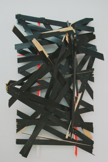 Latest disgrace © Clemens Hollerer Sculpture, 2014, enamel on wood, 250x142x92cm