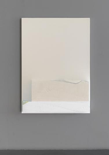 Untitled, 2015, wood, fabric, foam, spray paint, 110 x 28 cm