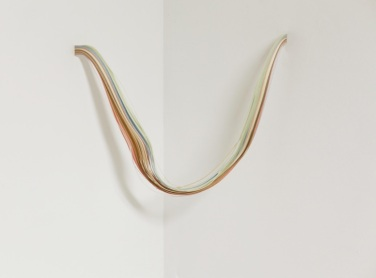 Beam Split. 2012, sculpture, slips of colored paper, 30 cm / Beam Split. 2012, sculpture, morceaux de papier de couleur, 30 cm