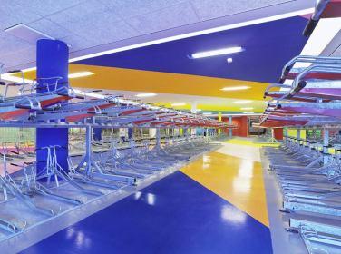 WALL PAINTING No.390, Talia. 2014, acrylic on wall, floor and ceiling, 800m2 (floor), 631m2 (ceiling) / PEINTURE MURALE No.390, Talia. 2014, acrylique sur mur, sol et plafond, 800m2 (sol), 631m2 (plafond)
