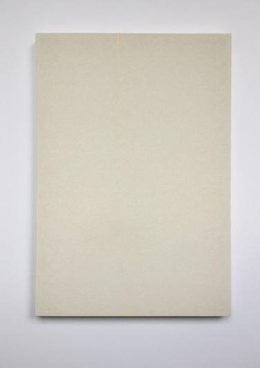 OT. 2014, wood, fabric, rubber band, 59,5 x 42 cm /Sans titre. 2014, bois, tissu, bande en caoutchouc, 59,5 x 42 cm
