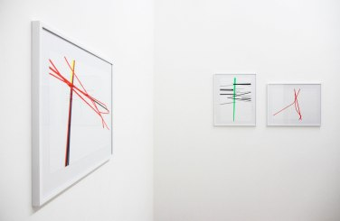 Regenerate 4, 3, 6. 2015, adhesive foil on paper, 29,7 x 42 cm and 42 x 29,7 cm / Regenerate 4, 3, 6. 2015, adhésif sur papier, 29,7 x 42 cm et 42 x 29,7 cm