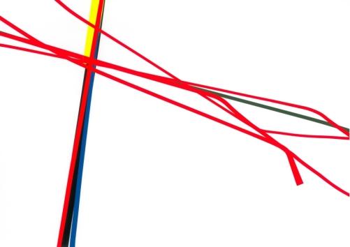 Regenerate 4. 2015 - Adhesive foil on paper, 29.7 x 42 cm Regenerate 4. 2015 - Adhésif sur papier, 29.7 x 42 cm