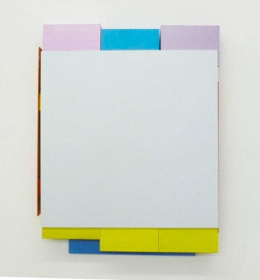 SQUARE AWAY. 2014, lacquer on aluminum, 40 cm x 31 cm / SQUARE AWAY. 2014, laque sur aluminium, 40 x 31 cm