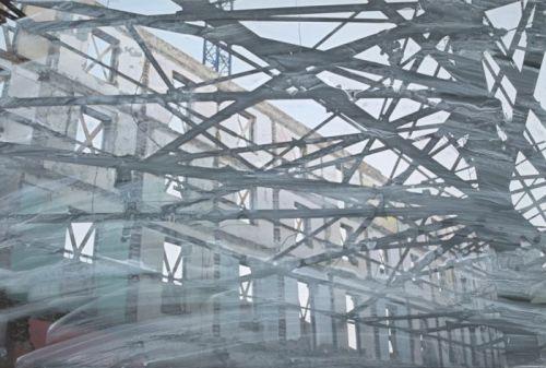 Toxicity 11. 2011 - C-Print on aluminium, acrylic paint, 40 x 60 cm. Unique overpainted photograph Toxicity 11. 2011 - C-Print sur aluminium, peinture acrylique, 40 x 60 cm . Photo repeint unique