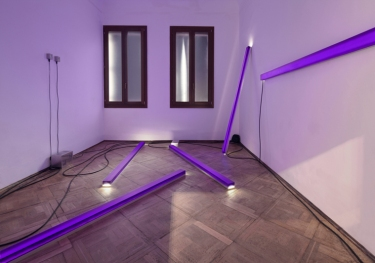 The (Dis)appearance of Everything. 2011, installation with resin, LEDs, spectro-sonic refrequencer (v2.0), dimensions variable. La Biennale Di Venezia 2011 / The (Dis)appearance of Everything. 2011, installation, résine, LED, spectro-sonic refrequencer (v2.0), dimensions variables. La Biennale de Venise 2011