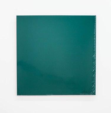 Saw City Destroyed Same. 2014, lacquer on dibond, 57,5 x 57,5 cm / Saw City Destroyed Same. 2014, laque et aérosol sur dibond, 57,5 x 57,5 cm