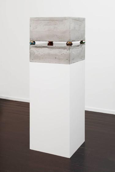Cans III. 2012, mixed techniques, 150 x 50 x 50 cm / Cans III. 2012, techniques mixtes, 150 x 50 x 50 cm
