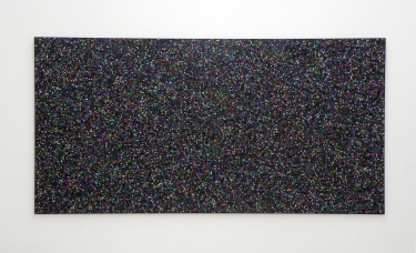 Untitled (black). 2014-2015, pigment print on laminated paper, 204 x 102 cm / Sans titre (noir). 2014-2015, impression pigmentaire sur papier contre-collé, 204 x 102 cm
