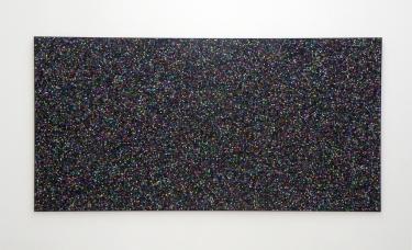 Untitled (black). 2014-2015, pigment print on laminated paper, 204 x 102 cm / Sans titre (noir). 2014-2015, impression pigmentaire sur papier contre-collé, 204 x 102 cm