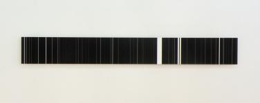 Study (vertical). 2014, black print on laminated paper, 200 x 25 cm / Étude (verticales). 2014, impression noire sur papier contre-collé, 200 x 25 cm