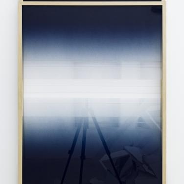 Untitled. 2015, spray paint on glass, frame, 70 x 102 x 6 cm / Sans titre. 2015, peinture aérosol sur verre, cadre, 70 x 102 x 6 cm