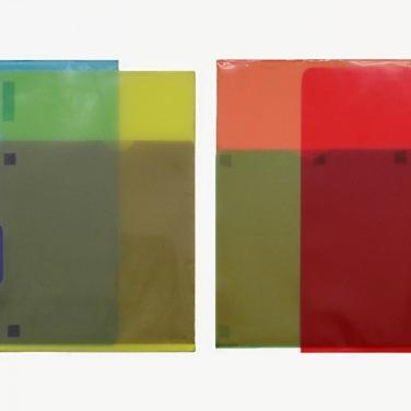Transparente Ordnung. 1991, PVC, 32 x 64,4 cm / Ordre Transparent. 1991, PVC, 32 x 64,4 cm