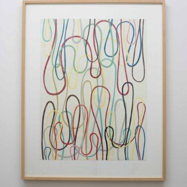 Schlaufenbild. 2006, PVC on cardboard, woodglue, 101 x 76 cm / Schlaufenbild. 2006, PVC sur carton, colle à bois, 101 x 76 cm