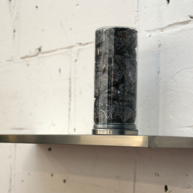 PERRINE LACROIX Erratum. 2014, shelf, jar, underlay / Erratum. 2014, étagère, bocal thibaude