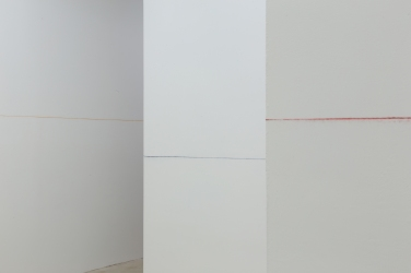 Untitled (colored lines). 2016, pigments, dimensions variable / Untitled (colored lines). 2016, pigments, dimensions variables