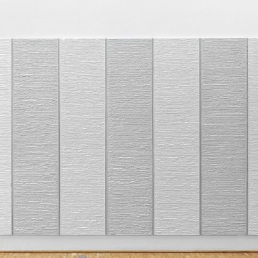 The Grey, 2016, plasterboards on canvas, 420 x 250 x 4 cm © Horst W Kurschat /The Grey, 2016, tableaux en plâtre sur canevas, 420 x 250 x 4 cm © Horst W Kurschat