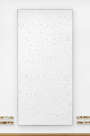 Paysage, 2016, polystyrene boardsand linoleum on canvas, 250 x 120 x 8 cm © Horst W Kurschat /Paysage, 2016, tableau en polystyrène et linoléum sur canevas, 250 x 120 x 8 cm © Horst W Kurschat