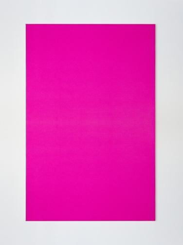 Sensitive painting Magenta / White 26°. 2015, thermochromic painting on canvas, 146 x 97 cm. Private collection. © Dimitri Mallet / Sensitive painting Magenta / White 26°. 2015, peinture thermochrome sur toile, 146 x 97 cm. Collection particulière. © Dimitri Mallet