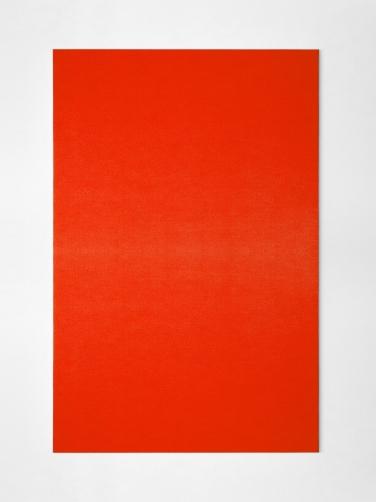 Sensitive painting Orange / White 26°. 2015, thermochromic painting on canvas, 146 x 97 cm. © Dimitri Mallet / Sensitive painting Orange / White 26°. 2015, peinture thermochrome sur toile, 146 x 97 cm. © Dimitri Mallet