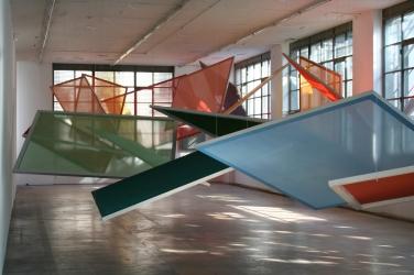 Suspens@Geneva, 2012. Ensemble de 32 peintures/écrans - Mamco, Genève / Suspens@Geneva, 2012. Set of 32 paintings/screens - Mamco, Genève (c) Cécile Bart