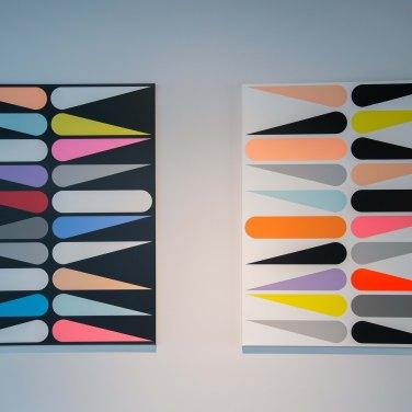 Jan van der Ploeg - Sans titre 1608 et Sans titre 1610, 2016. Acrylique sur toile, 105 x 85 cm