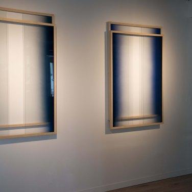 Sebastian Wickeroth - Sans titre, 2015. Peinture aérosol sur verre et cadre, 2 pièces de 94 x 135 x 7 cm