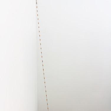 ETUDE POUR HÔPITAL 2 - 2017. Technique mixte, 250 x 0,8 cm