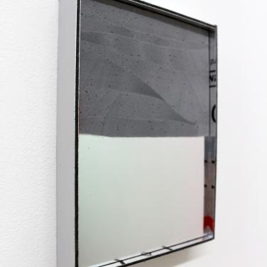 MIMMO (SPECCHIO) - 2017. Technique mixte, 21 x 15 cm