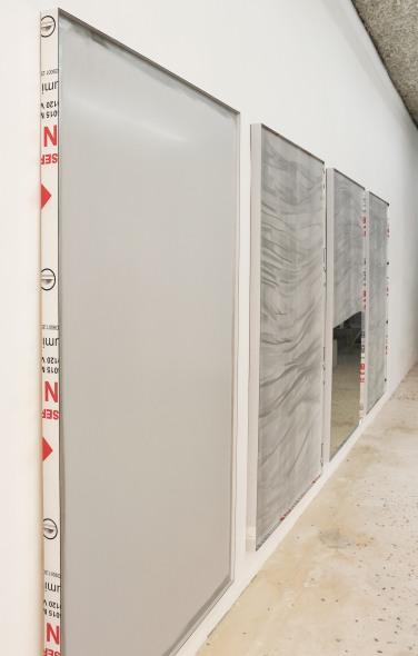 MIMMO (AL REVERSO) - 2017. Technique mixte, 200 x 123 cm / MIMMO - 2017. Technique mixte, 200 x 123 cm/ MIMMO (SPECCHIO) - 2017.Technique mixte, 200 x 123 cm / MIMMO - 2017. Technique mixte, 200 x 123 cm