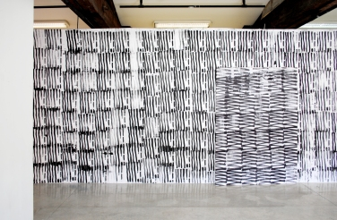 Mix tape - 2013 - Installation - Serigraphies on canvas and on canvas on wall