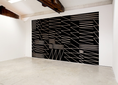 Sans titre ( Zigzag) - 2015 - Acrylic on plywood 280x450cm